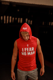 I FEAR NO MAN SLEEVELESS FOOTBALL  HOODIE