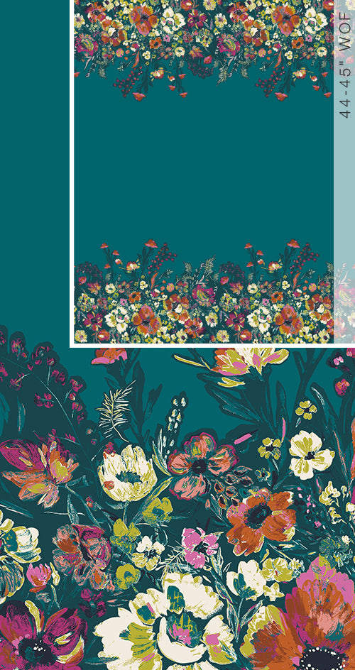 Roads to Flowerhouse PANEL Cotton Fabric