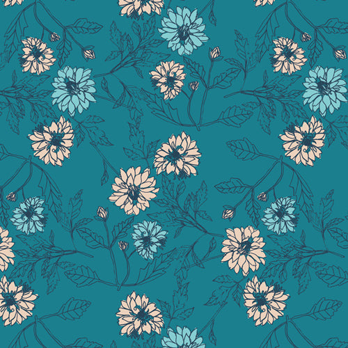 Something Blue Cotton Fabric