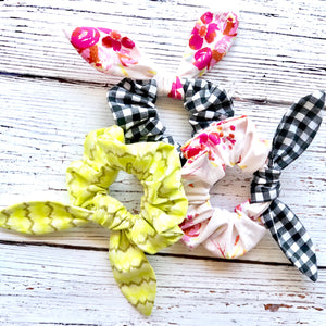 Bunny Scrunchie for Hair Sewing Pattern - PDF Download