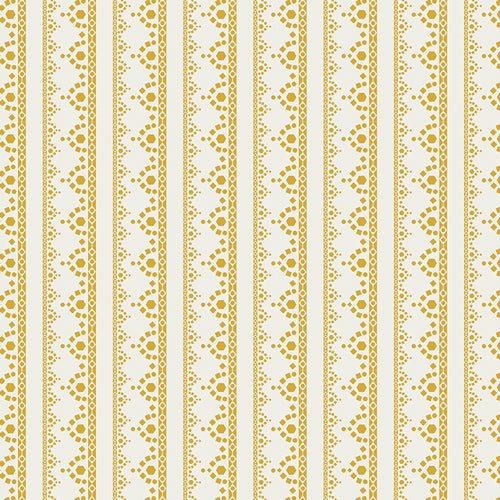 Lace Edge Golden Cotton Fabric