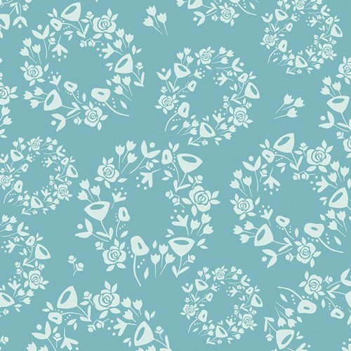 Ring O' Roses Dusty Cotton Fabric