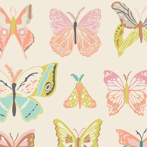 Wingspan Melon Cotton Fabric
