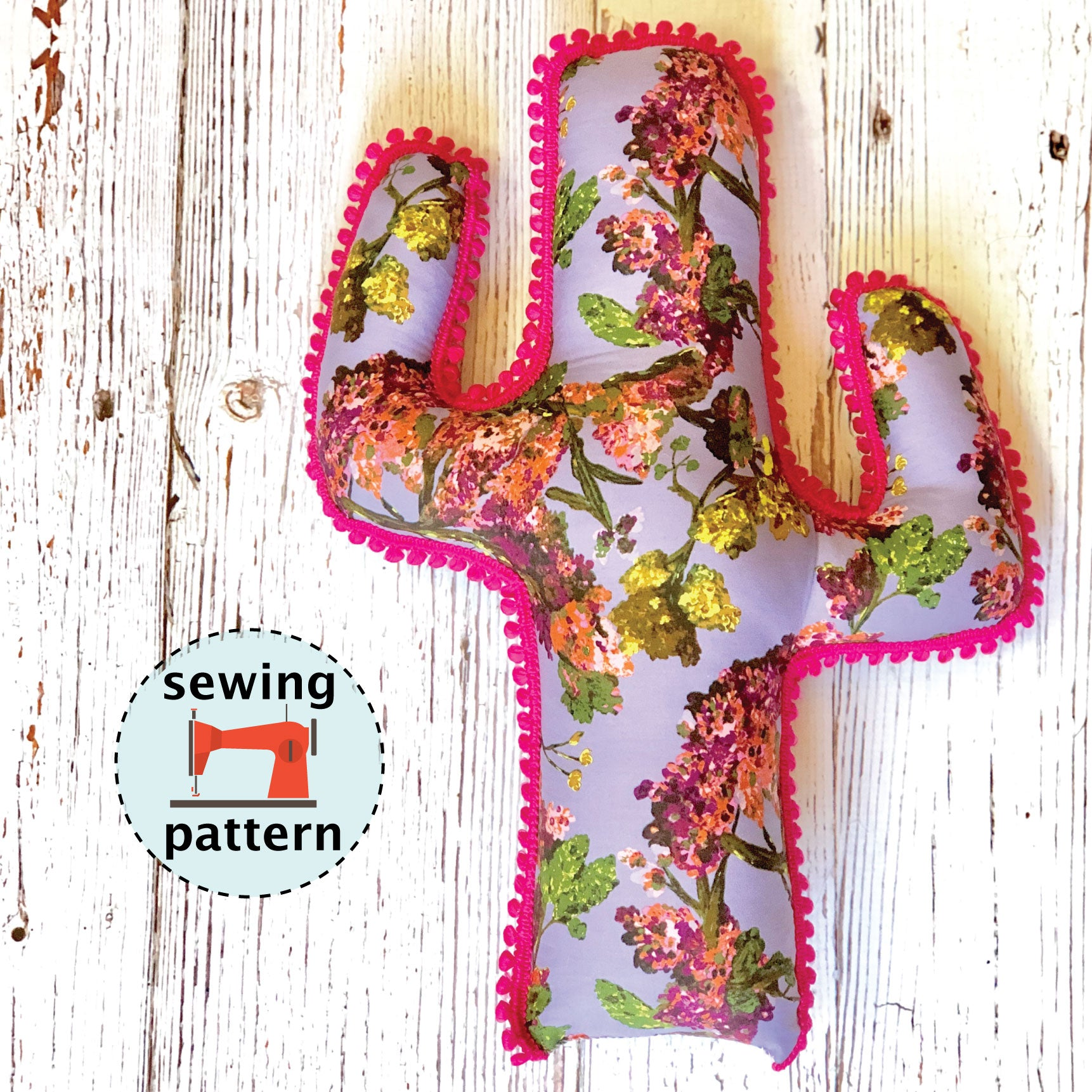 Cactus Cuddler Sewing Pattern - Sewing Instructions and Pattern - Stuffed Cactus - 4 sizes Plushy - PDF Download