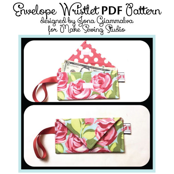 Envelope Wristlet Sewing Tutorial and Instructions