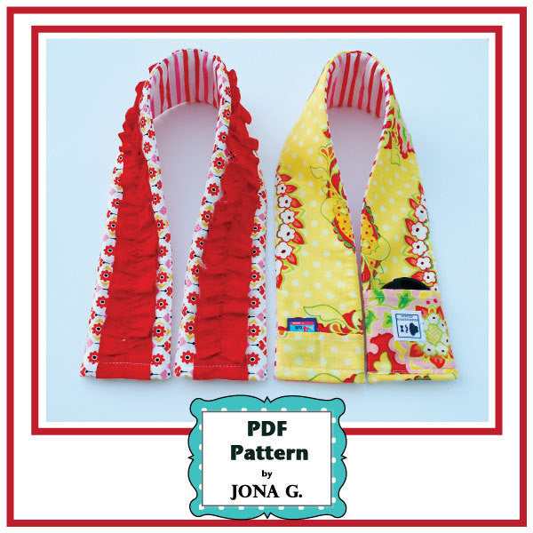 Camera Strap Cover Pattern/Tutorial Padded with Ruffled and Pockets Options - PDF pattern, instant download pdf