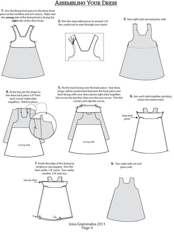 Sewing Pattern - Jemima Party Dress