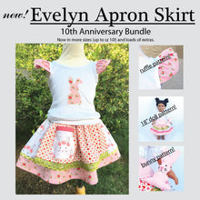 Sewing Pattern - NOW REDESIGNED! New Evelyn Apron Skirt - Sizes 2T up to 10 - PDF Sewing Pattern - Download