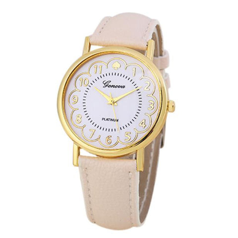 Women Watches Leather Band Analog Quartz Wrist Watch