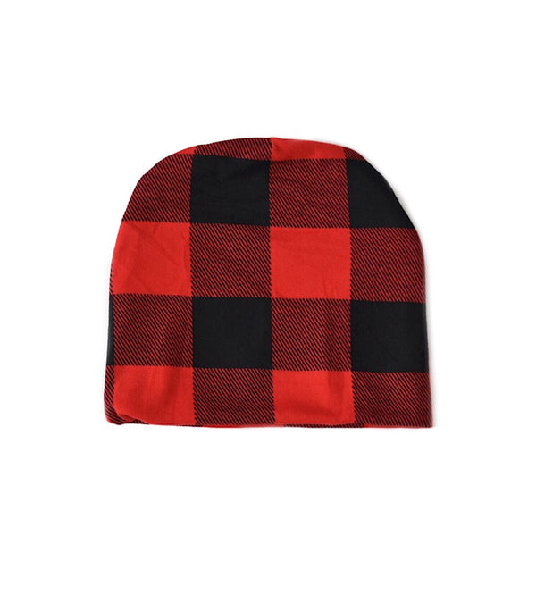 Newborn Plaid Hat