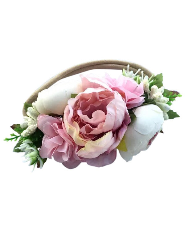Floral Nylon Headband Light Pink
