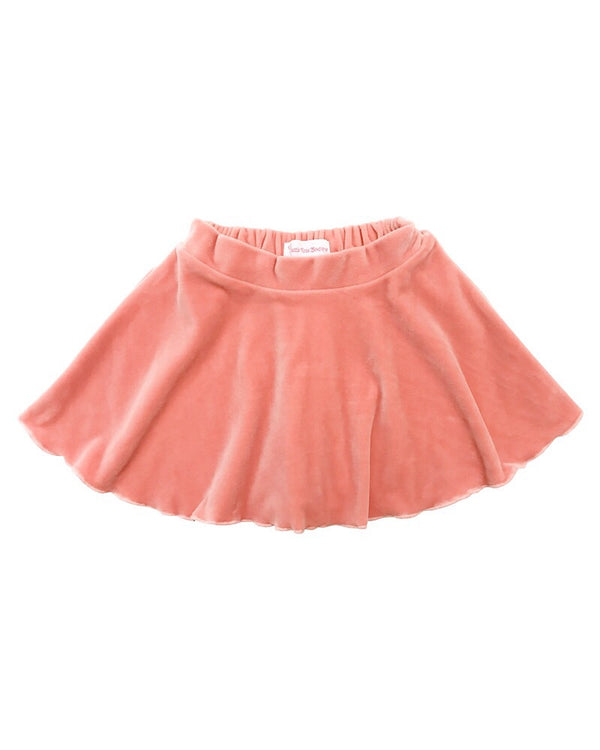 Velvet Mini Skirt Pink - Castle Rose Boutique