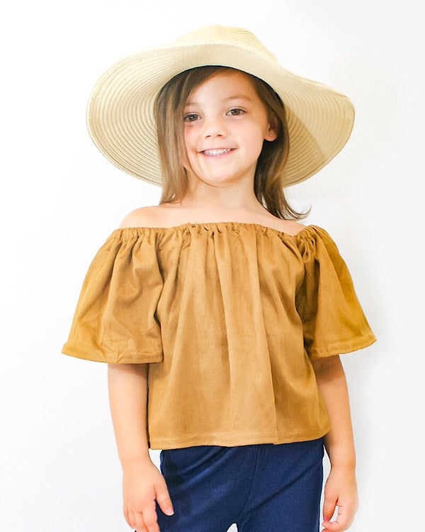 Off Shoulder Top brown