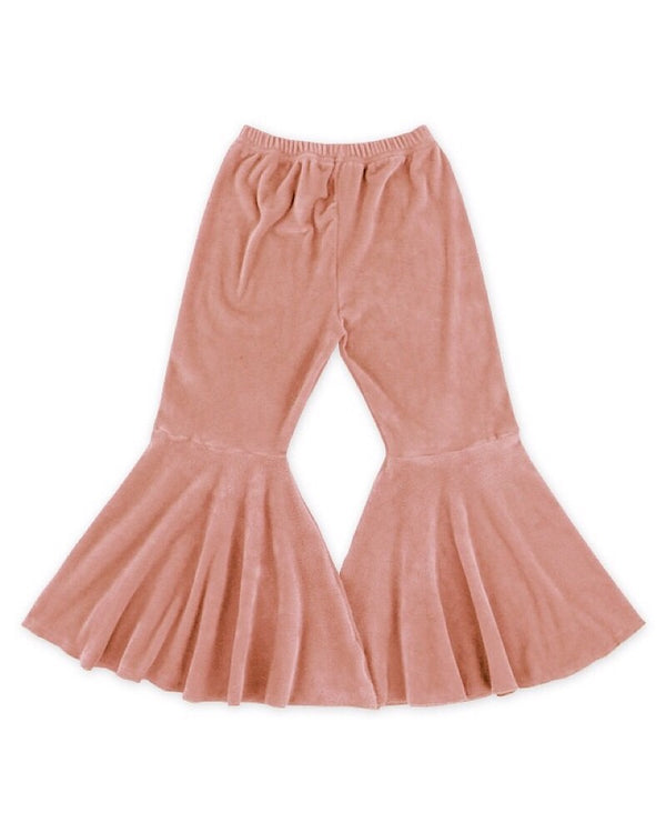 Velvet Bell Bottoms Pink
