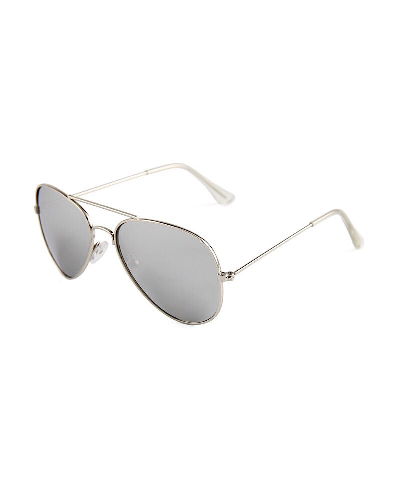 Aviator Sunglasses Silver - Castle Rose Boutique