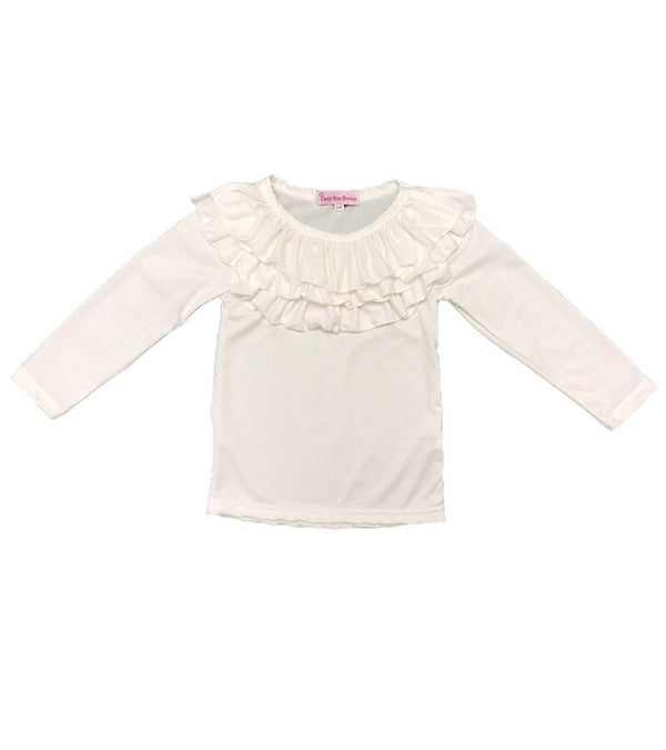 White Ruffle Top - Castle Rose Boutique