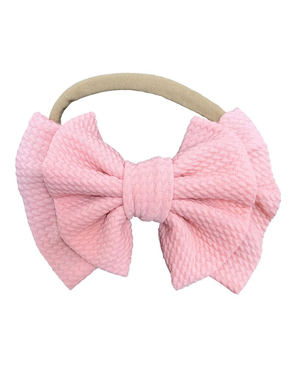Nylon Double Bow Headband