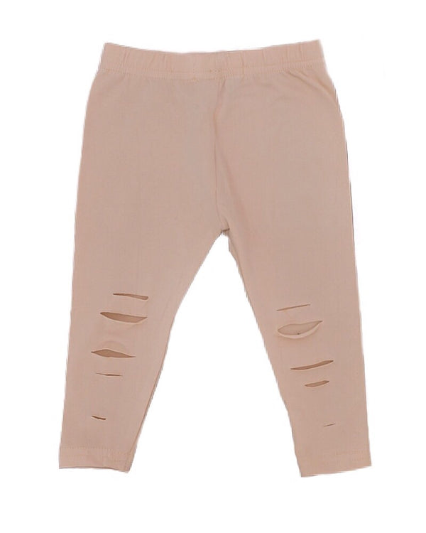 Ripped Leggings Beige