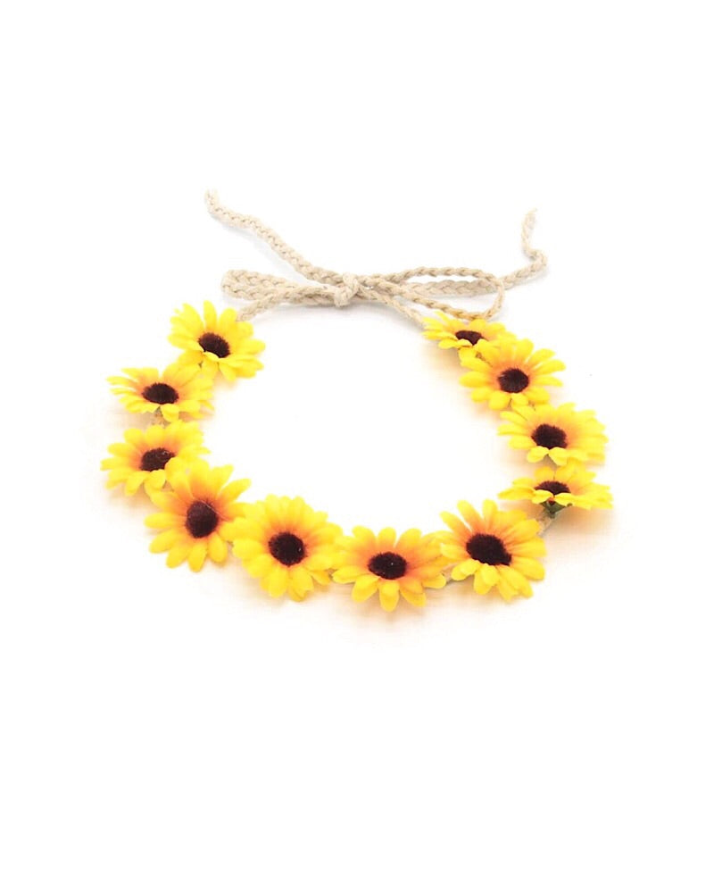 Adjustable Sunflower Headband