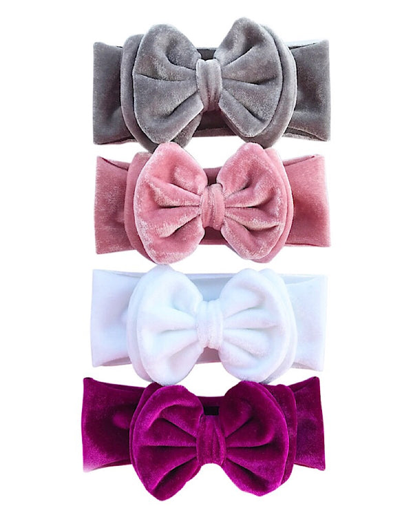 Velvet Double Bow Headband