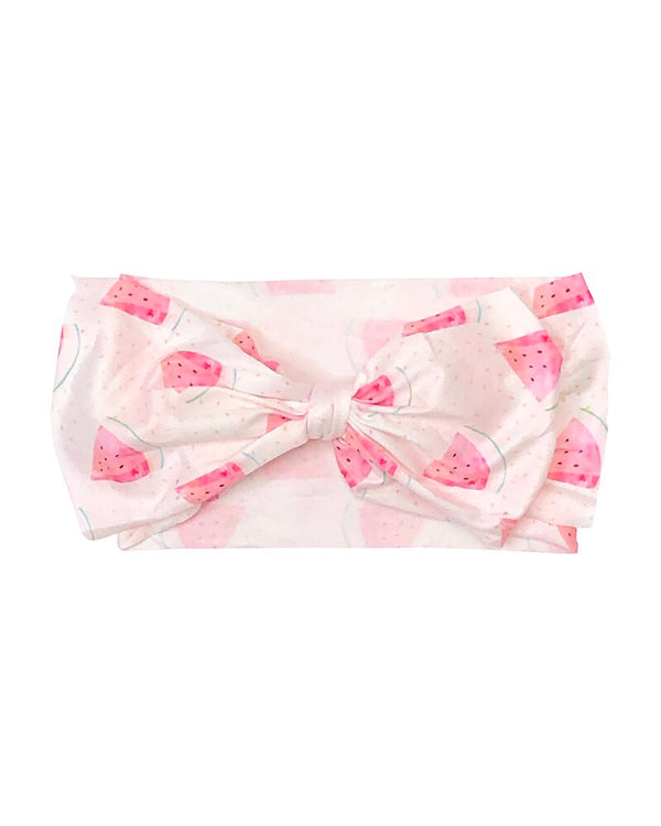 Watermelon Messy Bow Headband - Castle Rose Boutique