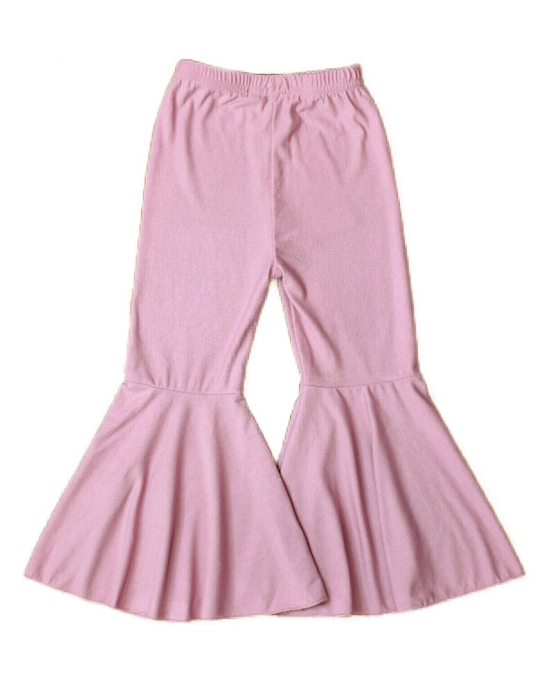 Soft Denim Bell Bottoms Mauve
