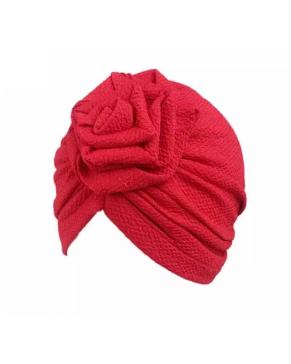 Red Rose Knot Turban