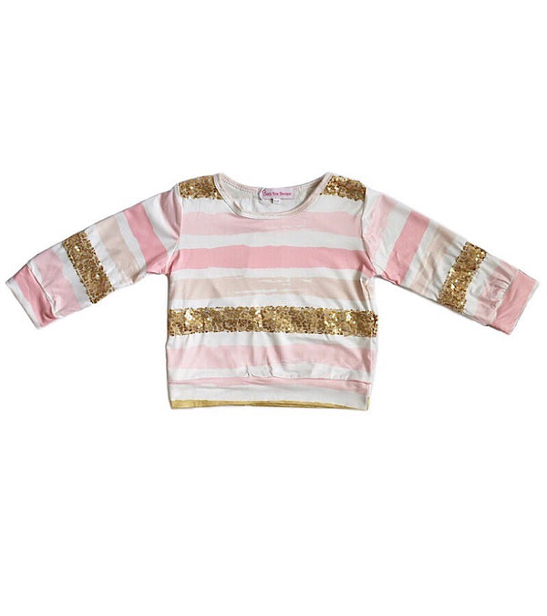 Stripes and Sparkles Top - Castle Rose Boutique