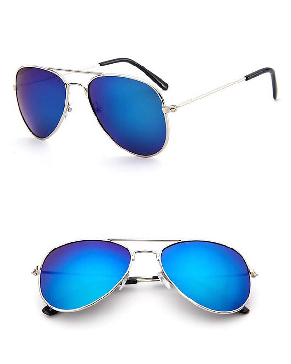 Aviator Kids Sunglasses Blue - Castle Rose Boutique