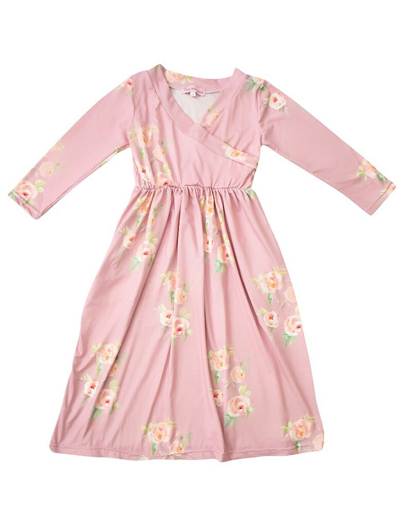 Ella Dress Pink - Castle Rose Boutique