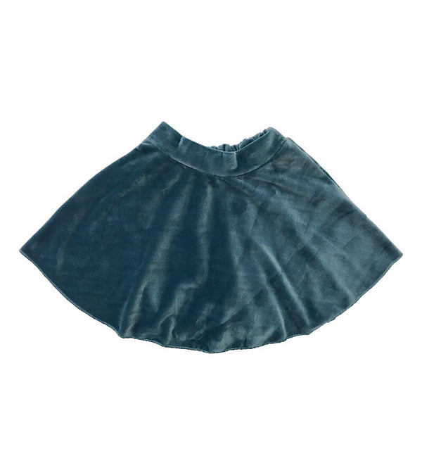 Velvet Mini Skirt Blue - Castle Rose Boutique