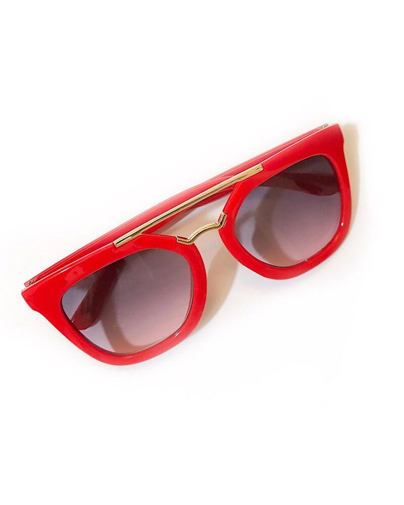 Red Sunglasses - Castle Rose Boutique