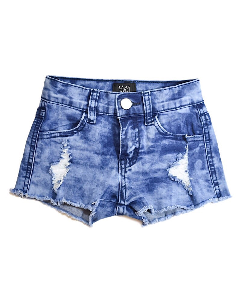 CRB Distressed Denim Shorts