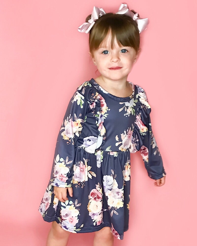 Savanna Dress Navy - Castle Rose Boutique