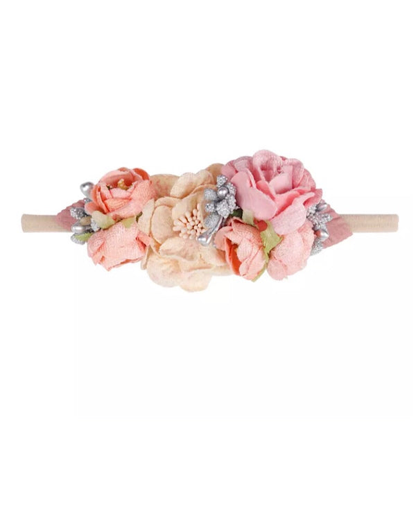 Floral Headband Light Pink
