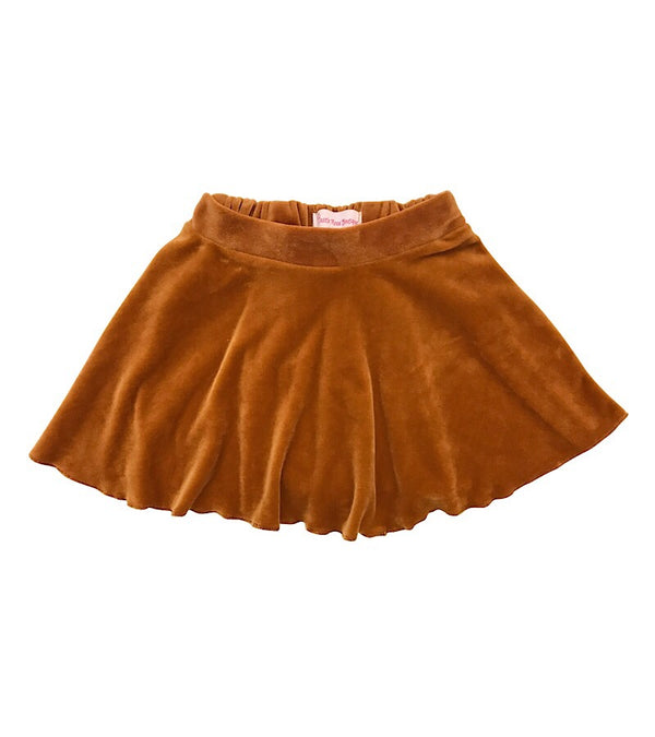 Velvet Mini Skirt Mustard - Castle Rose Boutique