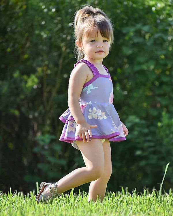 Violet Beauty Dress Romper