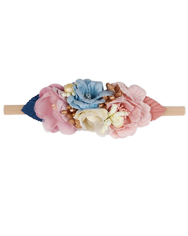 Floral Headband blue and pink