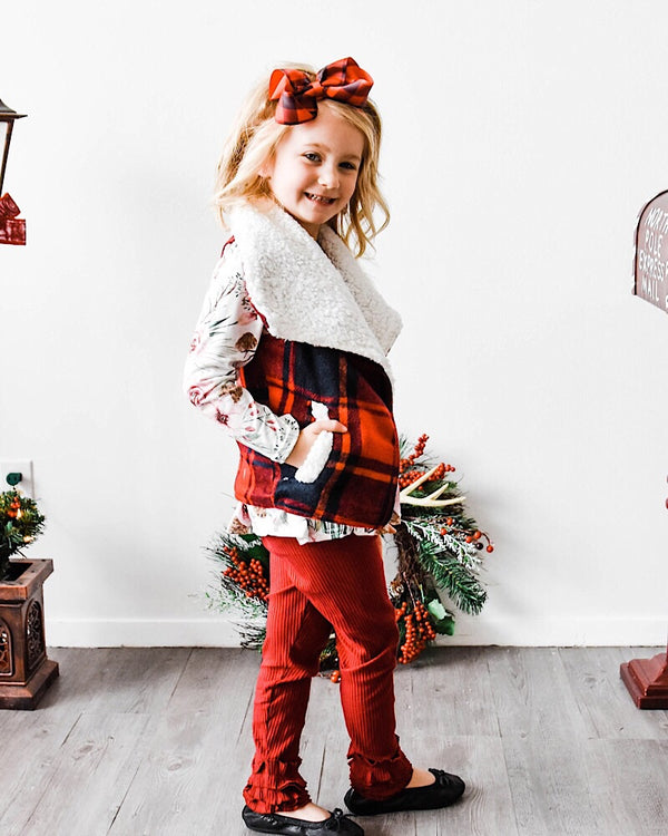 Little Buffalo Plaid Vest - Castle Rose Boutique