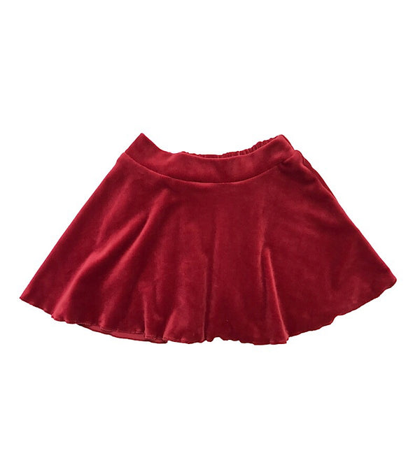 Velvet Mini Skirt Wine