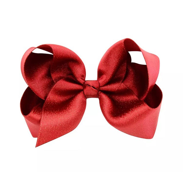Shimmery Bow Clips - Castle Rose Boutique