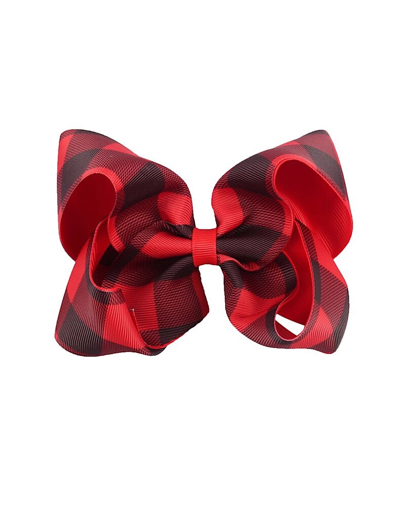 Jumbo Plaid Clip Bow