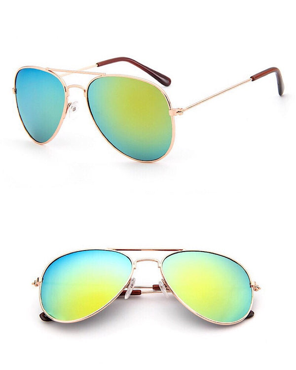 Aviator Kids Sunglasses Green - Castle Rose Boutique