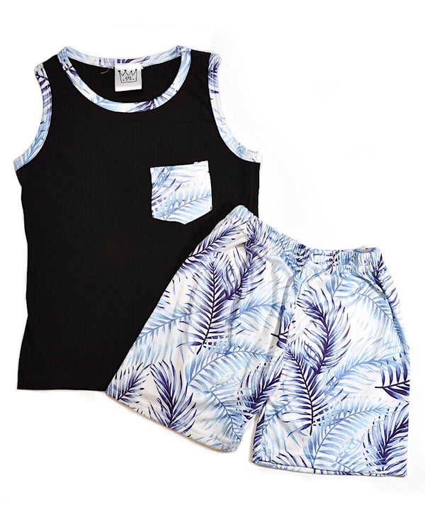 Summer Tank Top Set Blue