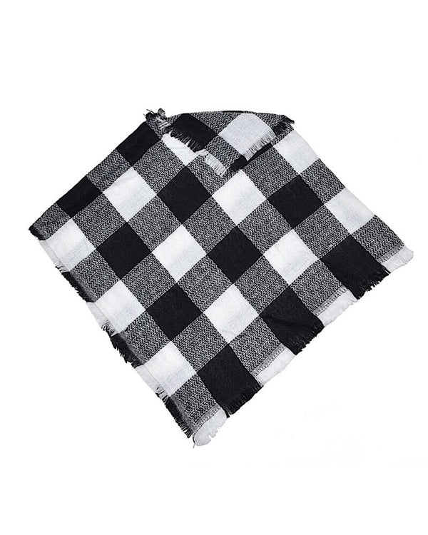 Poncho Black and White