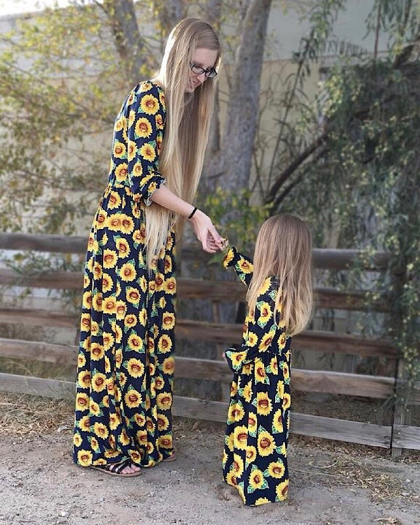 Sunflower Mommy Dress