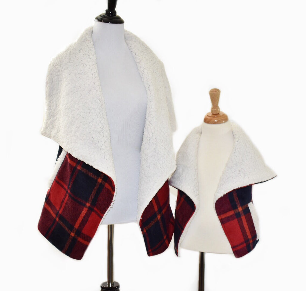 Mommy Buffalo Plaid Vest