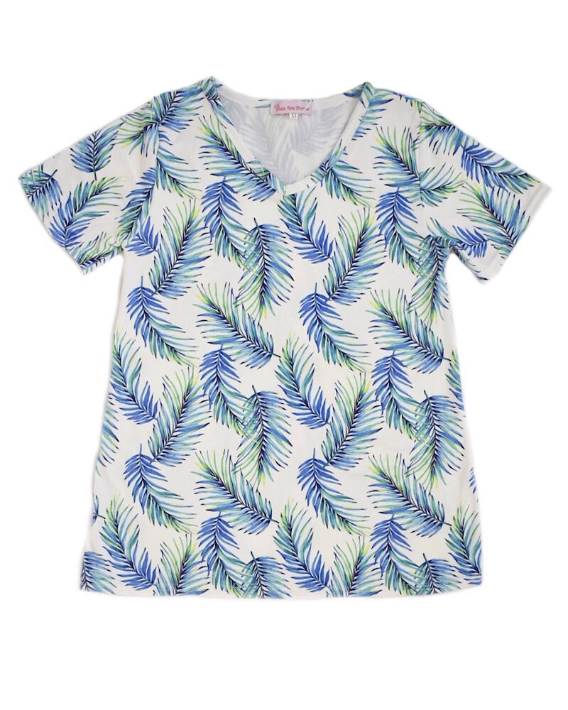 Palm Leaves Mommy T Shirt - Castle Rose Boutique