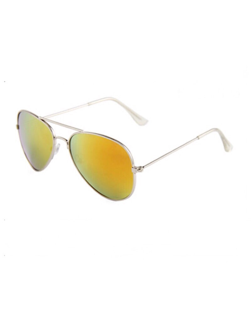 Aviator Sunglasses Orange - Castle Rose Boutique