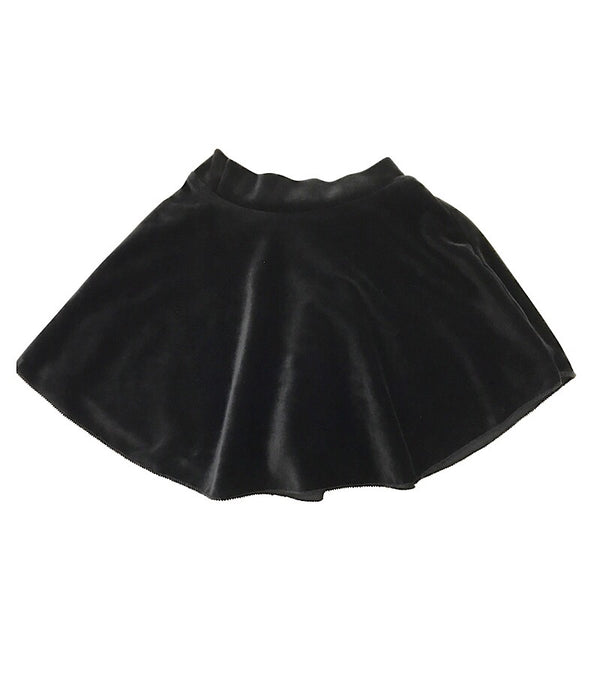 Velvet Mini Skirt Black